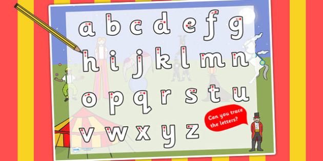 Circus Themed Letter Writing Worksheet - writing aid, literacy