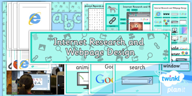 PlanIt - Computing Year 5 - Internet Research and Webpage Design Unit Additional Resources - planit, computing
