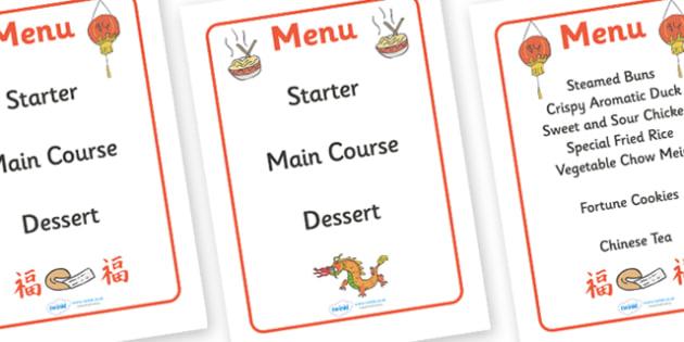 Australia Chinese Restaurant Takeaway Menu - Chinese restaurant, menu, restaurant, Chinese new year, dragon