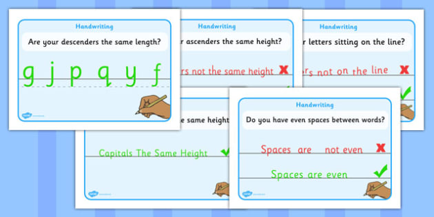 Handwriting Display Posters - writing aid, Line Guides, name, Handwriting, Writing aid, Learning to write, Write name, prompts, writing prompts