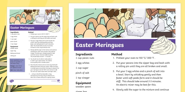 Easter Story Meringues Recipe - easter, easter story, recipe