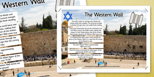 The Western Wall Facts Display Poster - western wall, facts, display poster