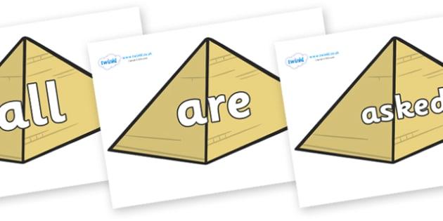 Tricky Words on Pyramids - Tricky words, DfES Letters and Sounds, Letters and sounds, display, words