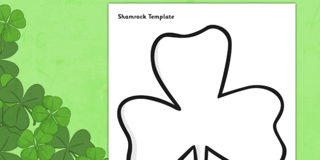 St Patricks Day Shamrock Template - st patricks day, st patrick