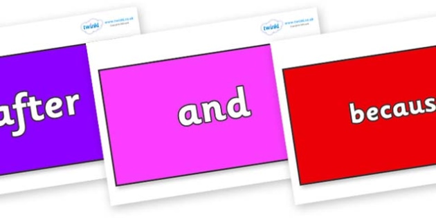 Connectives on Rectangles - Connectives, VCOP, connective resources, connectives display words, connective displays