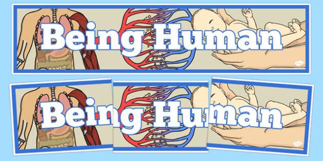 Being Human Display Banner - being human, display banner, display, banner, human