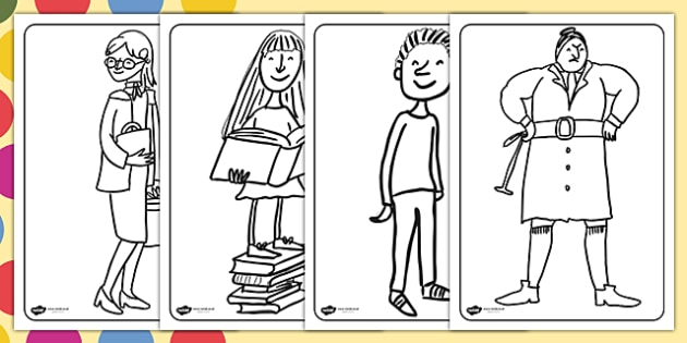 Colouring Pages to Support Teaching on Matilda - matilda, matilda colouring pages, colouring pages, roald dahl colouring pages, roald dahl, matilda colouring in sheets