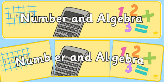 Number and Algebra Display Banner NZ - nz, new zealand, number, algebra, display, banner
