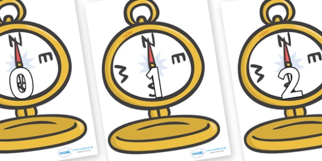 Numbers 0-100 on Pocket Watches - 0-100, foundation stage numeracy, Number recognition, Number flashcards, counting, number frieze, Display numbers, number posters