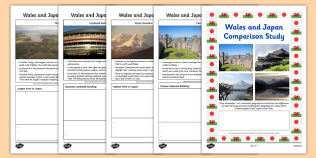 Wales and Japan Comparison Study Research Booklet