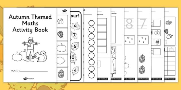 Autumn Themed Maths Activity Booklet - seasons, weather, math