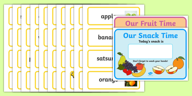 Snack Posters and Labels With Photographs - snack, posters, labels, photographs