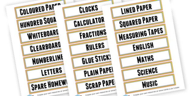 3T Small Labels - Drawer & Peg Name Labels Primary Resources, Name Label, Label, Peg