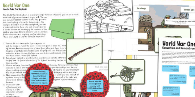 World War One Lapbook - world war one, lapbook, book, ww1, war