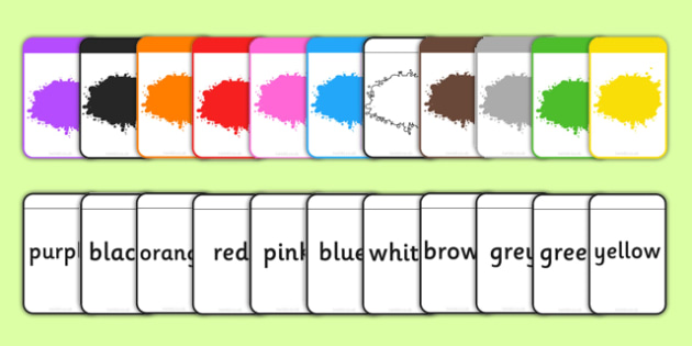 Colour Matching Flashcards - colour, matching, flashcards, match