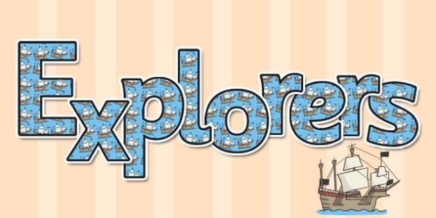 Explorers Display Lettering - display lettering, explorers, title
