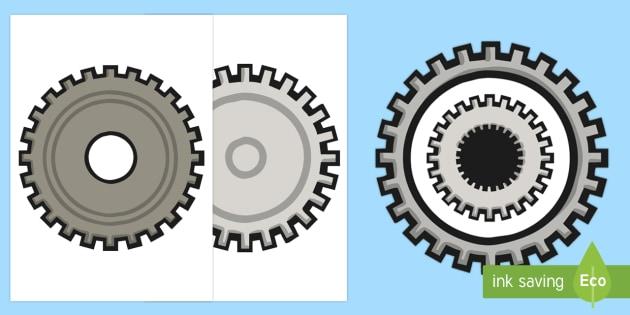 Editable Cog Cut Outs - editable, edit, cog, cut outs, activity, craft