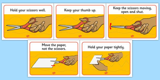 Scissor Skills Display Posters - scissor, skills, display, poster