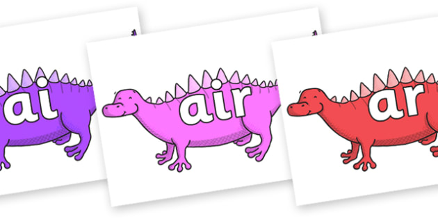 Phase 3 Phonemes on Scelidosaurus - Phonemes, phoneme, Phase 3, Phase three, Foundation, Literacy, Letters and Sounds, DfES, display