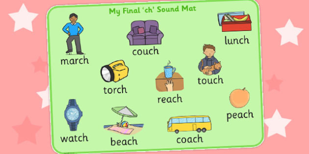 Final Ch Sound Word Mat - final ch, sound, word mat, word, mat