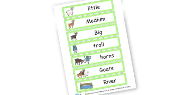 Billy goats gruff - Billy Goats Gruff Primary Resources, traditional tales, Billy goat