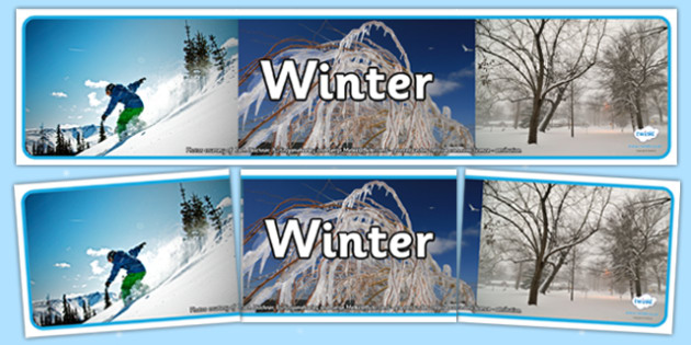 Four Seasons Photo Display Banners Winter -  four seasons, winter, display banner, winter display banner, winter banner, photo display banner