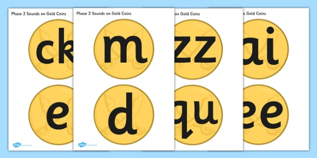 Phase 2 and 3 Sounds on Gold Coins - phase 2, phase 3, sounds, gold coins