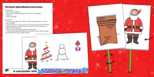 Christmas Optical Illusion Cut Outs - christmas, optical illusion, cut outs, holiday