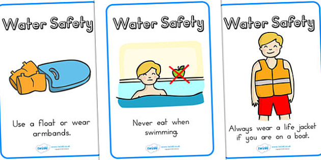 Water Safety Display Posters - water, safety, pool, safe, swim