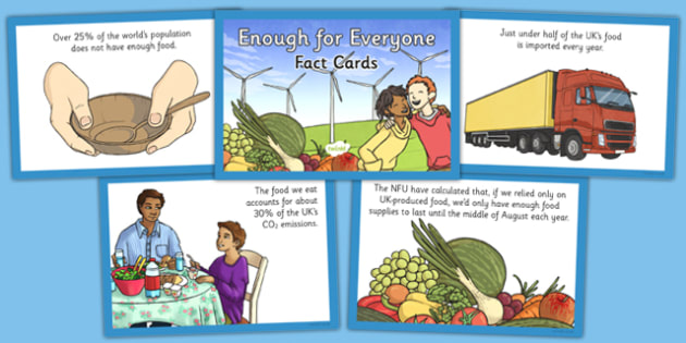Enough for Everyone Fact Cards - geography, settlement, power, resources, energy, electricity, food