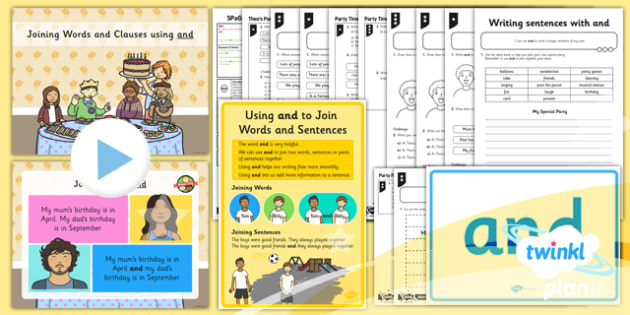 PlanIt Y1 SPaG Lesson Pack: Joining Words and Clauses using and - GPS, sentence, phrases, writing, linking, grammar