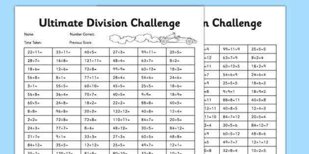 KS2 Ultimate Division Challenge - ks2, ultimate challenge, division, challenge