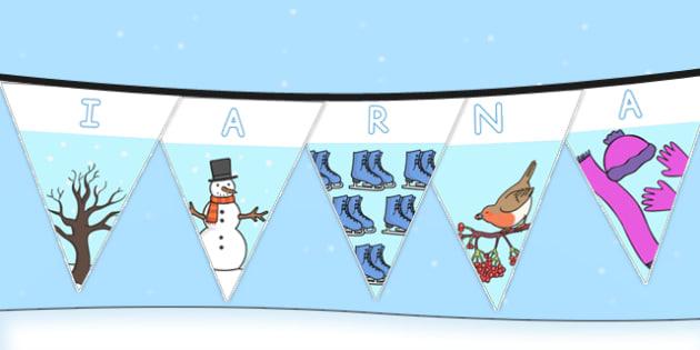 Stegulete IARNA - decorul clasei, iarna