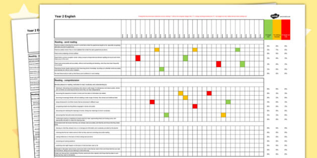 2014 Curriculum Year 2 English Reading Spreadsheet - english