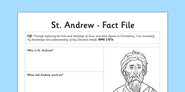 St Andrew Fact File - curriculum for excellence, cfe, st andrew, fact file