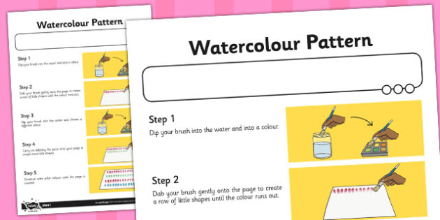 Activity Sheet Watercolour Pattern - activity, sheet, watercolour, worksheet