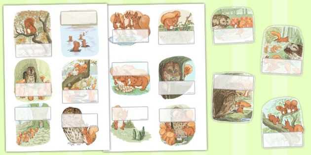 The Tale of Squirrel Nutkin Editable Self Registration - squirrel nutkin, self-reg