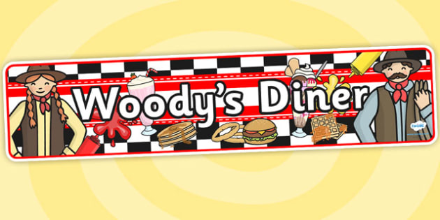 Woodys American Diner Role Play Banner-american diner, role play banner, diner, role play, banner, diner role play, america, food, woodys