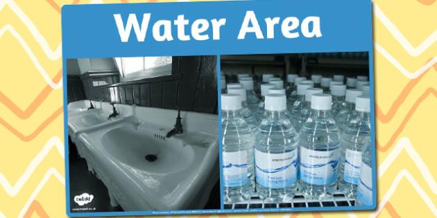Water Area Photo Sign - water, area sign, photo, sign, display