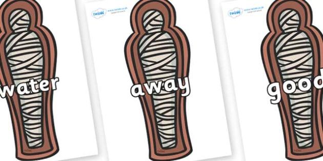 Next 200 Common Words on Mummies (Coffin) - Next 200 Common Words on  - DfES Letters and Sounds, Letters and Sounds, Letters and sounds words, Common words, 200 common words
