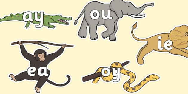 Phase 5 Phonemes on Jungle Animals - walking in the jungle, walking in the jungle phonemes, walking in the jungle literacy, jungle, sounds