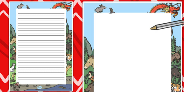 Chinese New Year Decorative Page Border - page, border, chinese