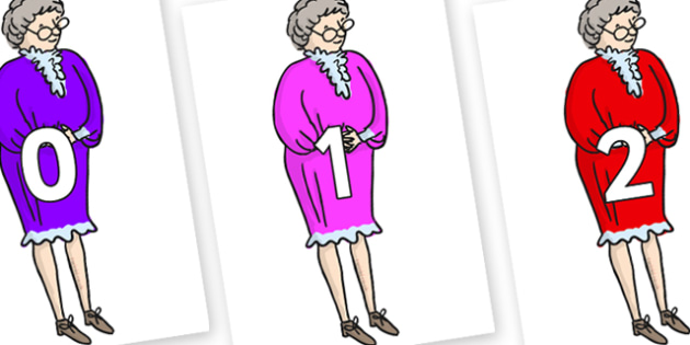 Numbers 0-100 on Mrs Phelps to Support Teaching on Matilda - 0-100, foundation stage numeracy, Number recognition, Number flashcards, counting, number frieze, Display numbers, number posters