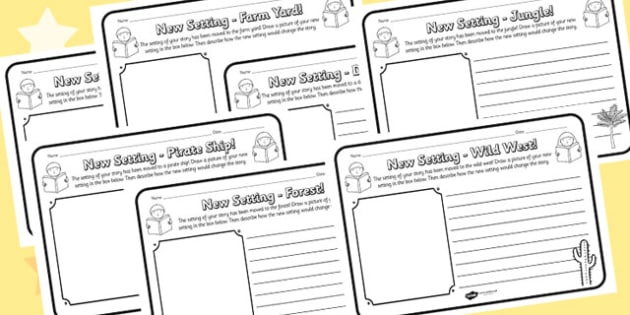 New Setting Worksheet Pack - new setting, worksheet pack, worksheets, work sheet, work sheets, pack of worksheets, resource pack, literacy, writing