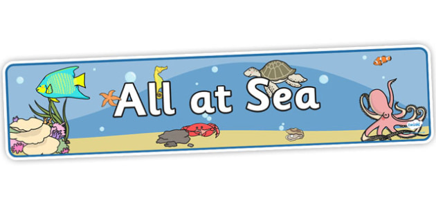 All At Sea Banner - all at sea, sea banner, sea display banner, all at sea display banner, display banner, themed display banner