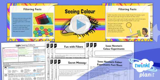 PlanIt - Science Year 6 - Light Lesson 5: Seeing Colours Lesson Pack