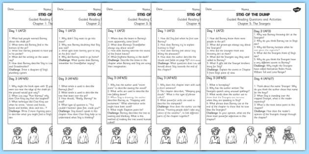 Stig of the Dump Guided Reading Pack - stig, dump, pack, reading