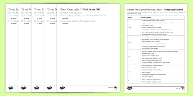 Great Expectations Mini Exam Pack Mini Exam Pack