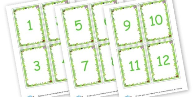 Numbers Cards - Animals Numbers Primary Resources, numbers, maths, numeracy, count