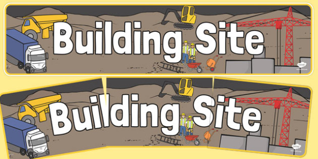 Building Site Display Banner - building site, display banner, display, banner, building, site